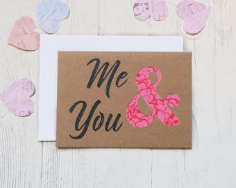 Anniversary Card - Me & You - Pattern Fabric - Love
