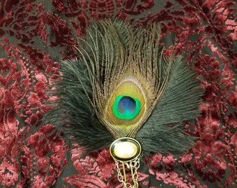 Upcycled Feather Hair Pin