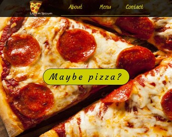 Template for website for a pizzeria HTML/CSS/JS