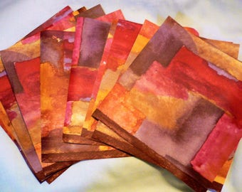 "Wallpaper Border 10 6"" x 6""  Sheets, Rust, Orange, Gold, Gray and Brown Colors"