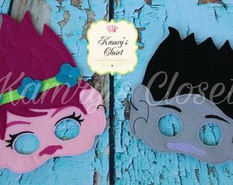 Trolls Mask, Poppy Mask, Branch Mask, Trolls Movie, Play Mask