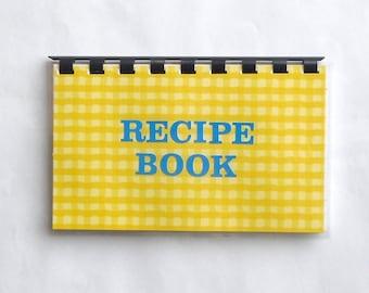 SALE ITEM Handmade Yellow 'Recipe Book' Blank Recipe book for Personal Recipes