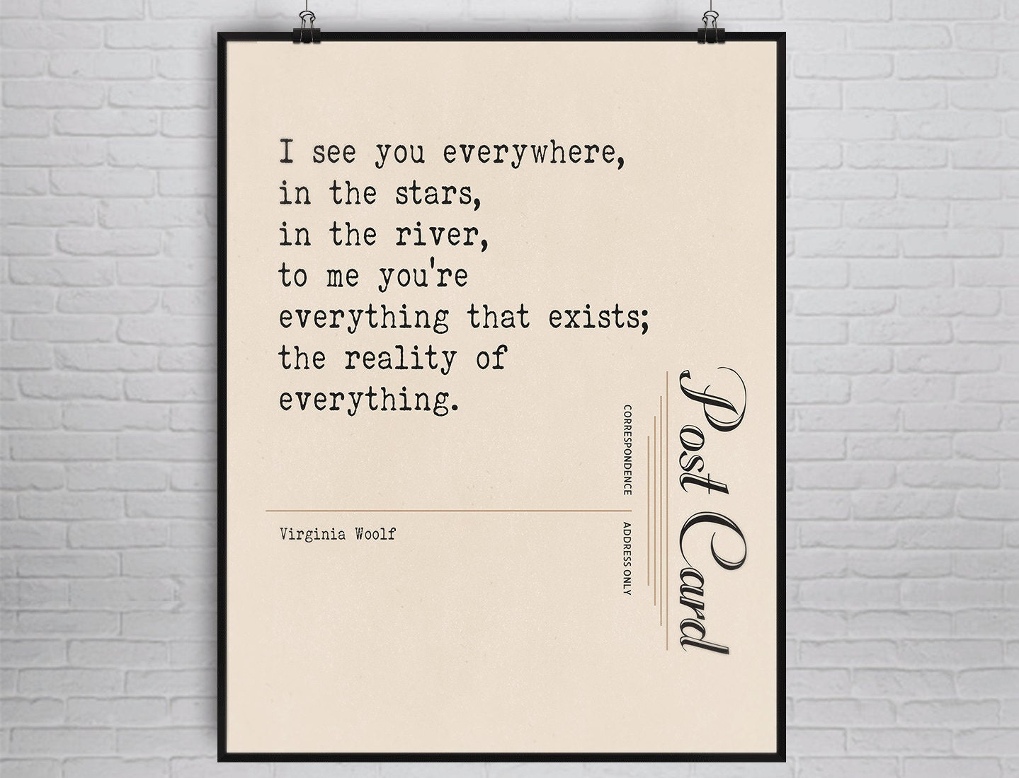 Love Poem Quotes Virginia Woolf Quote Print Literary Art Print Love Quote