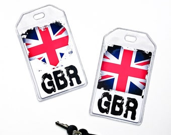 UK Flag Luggage Tag, British Flag, Union Jack, Friend Gift, Travel, Vacation Accessories
