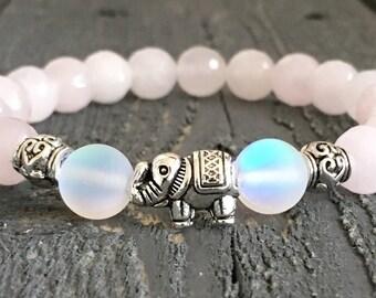 Elephant Bracelet, Elephant Jewelry,  Boho Bracelet, Elephant Charm, Beaded Bracelet, Charm Bracelet