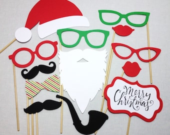 13 Christmas Photo Props - Christmas Photobooth Props - Holiday Photo Booth Props