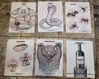 Targets, Shooting Target, Target Practice, Vintage Paper Targets