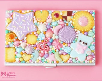 Kawaii Pastel Sweets Business or Credit Card Holder Case by Dolly House