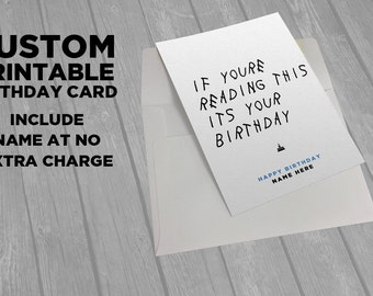 Drake Printable Birthday Card - If You're Reading This - Fillable PDF-  Funny Hip Hop