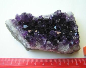 Richly Coloured Amethyst Cluster 7cm x 4cm Richly Coloured Amethyst Cluster -Uruguay 5cm x 8cm