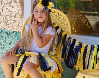 Bumble Bee Birthday Outfit Bee Birthday Outfit Bumble Bee Tutu Bee Tutu 1st Birthday Outfit Girl Birthday Outfit Smash Cake Fabric Tutu