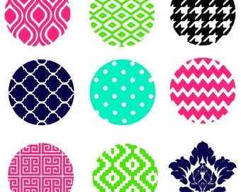 Round Circle Background Patterns instant download cut file for cutting machines - SVG DXF EPS ps Studio3 Studio