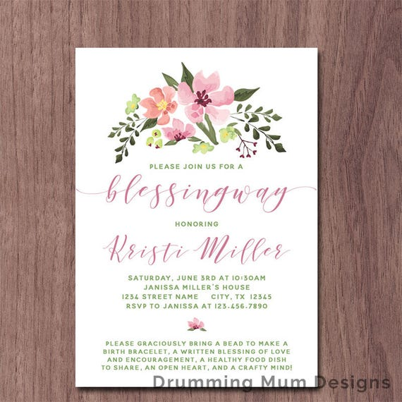 Blessingway Invitation Mother Blessing Invite Blessing Way