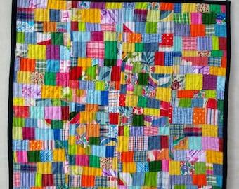 Quilted Wall Art. Summer. Landscape Art. Modern Art Quilt Handmade