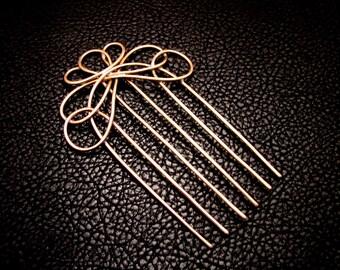 Hair Comb, Bridal hair comb, Hair fork, Hair accessories, Hair jewelry, rustic wedding, decorative hair comb, woven hair comb