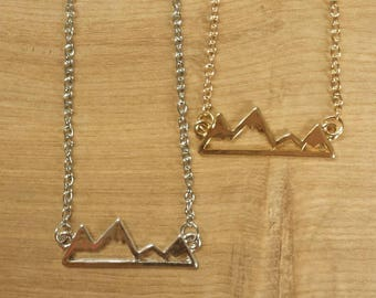 Mountain Necklace // Silver // Gold // Gift For Her //