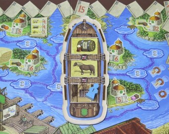 Village board game player ship