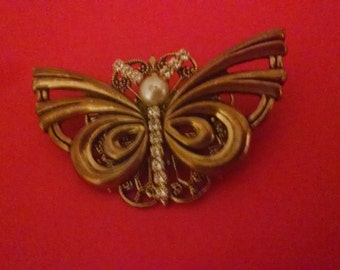 Butterfly Brooch, Lapel Pin, Scarf Pin, Under 15.00, Signed, Brooches, Pins, Sweater Pins, Jewelry, Vintage Brooch, Accessories, For Her,
