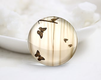 10mm 12mm 14mm 16mm 18mm 20mm 25mm 30mm Handmade  Photo Glass Cabochons -Butterfly (P1104)