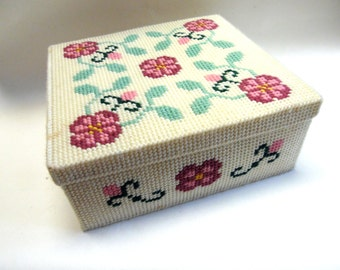 Embroidery Tin  Decorative Storage