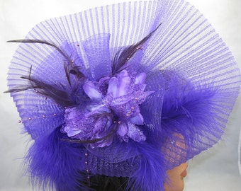 Ombres pourpre Kentucky Derby Fascinator