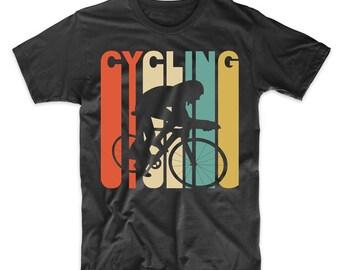 Retro 1970's Style Cycling Cyclist Biking Sports T-Shirt