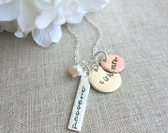 New Bride . Personalized Jewelry . bride jewelry . bride necklace . mrs . for the bride . wedding gift . handmade jewelry