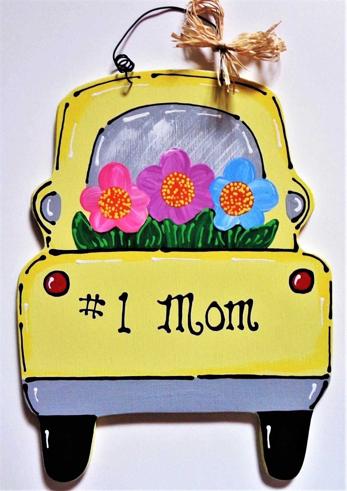 Number One Mom VINTAGE STYLE Mother\'s Day TRUCK Sign Wall