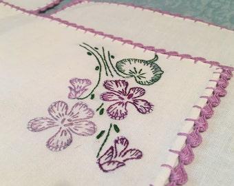 Sweet Violets Vintage Linens