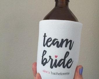Team Bride, Bride Tribe, Bachelorette, Wedding Can Cooler