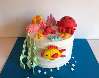 Sea creature cake Etsy