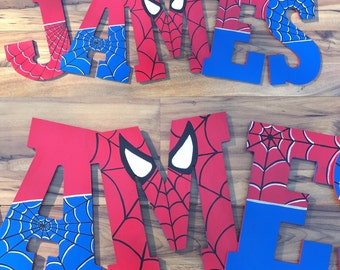 """Spiderman Letters 10.5"""""""