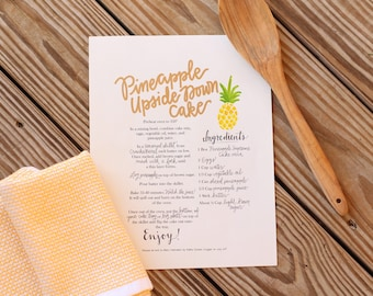 Custom Handlettered Recipe Print