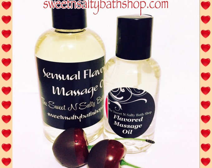 Chocolate Covered Cherry/Strawberry Flavored Massage Oil