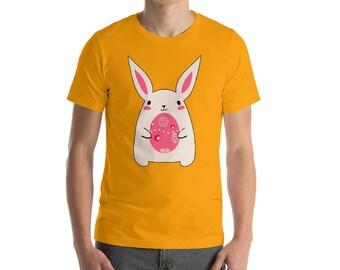 Cute Bunny Holding Easter Egg! Cute Bunny Shirt! Rabbit Tee