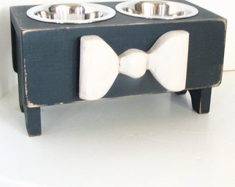 stands and two walnut by custom likes in mid raised feeder photo elevated see modern stand food solid dog feeders century pets kejwoodworks bowls water this instagram stainless with steel pin