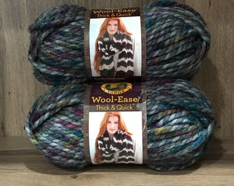 Lion Brand Wool-Ease Thick & Quick Abalone Yarn