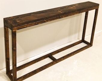 Long Console Table / Narrow Console Table / Long Entryway Table / Behind  Couch Table /