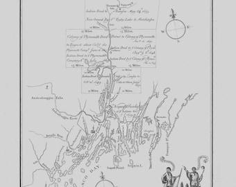 Casco Bay Maine Map 1751