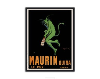 "Vintage Absinthe Poster ""Maurin Quina"" by Leonetto Cappiello P060"