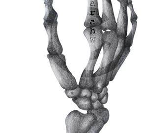 ORIGINAL drawing/illustration entitled 'Still Life'; memento mori; vanitas; art print