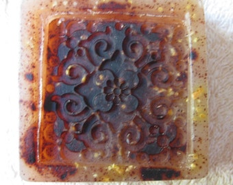 Cinnamon Pumpkin Spice Embossed Soap