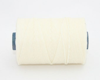 Waxed Irish Linen Thread White 4 Ply