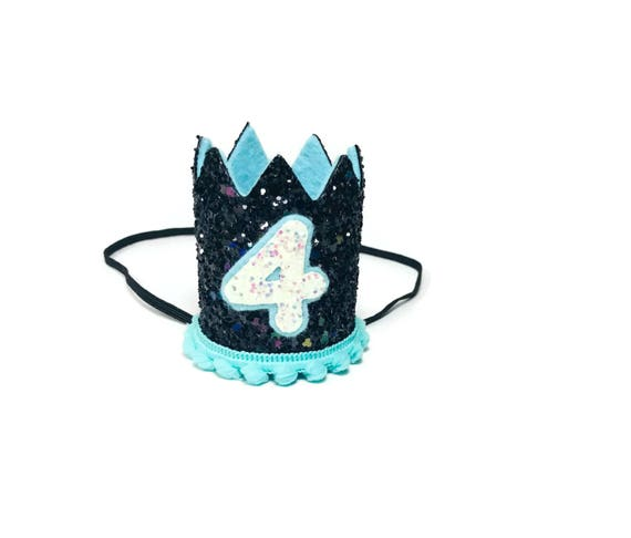 4th Birthday Crown || Any Age || Dog Birthday Hat || Pet Party || Birthday Crown
