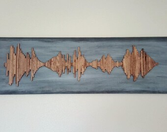 Custom Wood Soundwave Wall Art - Weathered Soundwave Wall Art - Soundwave Art - Anniversary Gift - Unique Gift Idea