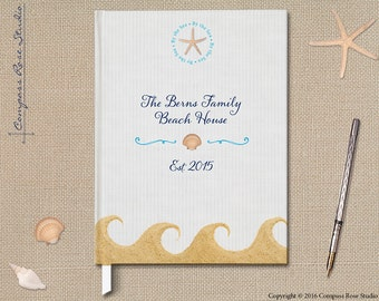 Beach House Rental Guest Book, Starfish Guest Book, Summer Home Guest Book, Vacation Home Guest Book, Rental Property Guest Book