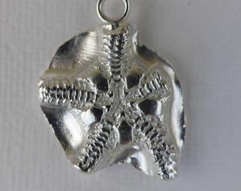 Fine silver seastar pendant, gift for her