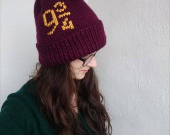 Platform 9 3 4 Harry Potter gifts for her Valentines Day gift Harry Potter items Hogwarts express bookish hat handmade burgundy hat