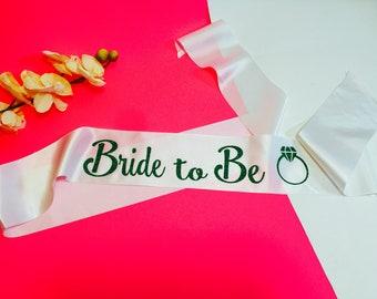 Bachelorette Sash, Custom Sash, Personalized, wedding Sash,