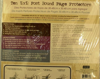 10 12x12 Post Bound Page Protectors